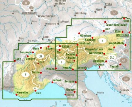 KRAJE ALPEJSKIE mapa 1:500 000 FREYTAG & BERNDT (3)