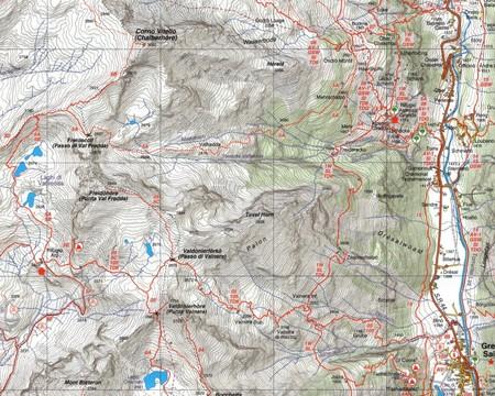 MONTE ROSA mapa turystyczna 1:25 000 Fraternali Editore 2020 (3)
