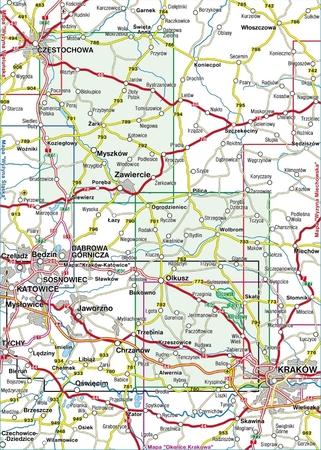 JURA KRAKOWSKO-CZĘSTOCHOWSKA mapa laminowana 1:50 000 COMPASS 2021 (3)