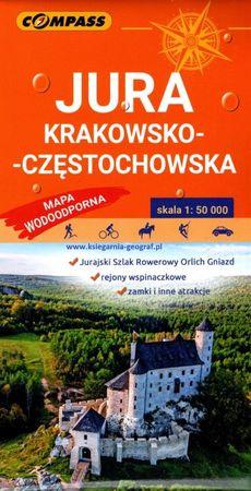 JURA KRAKOWSKO-CZĘSTOCHOWSKA mapa laminowana 1:50 000 COMPASS 2021 (1)