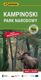 KAMPINOSKI PARK NARODOWY mapa laminowana 1:50 000 COMPASS 2021