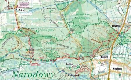 KAMPINOSKI PARK NARODOWY mapa laminowana 1:50 000 COMPASS 2021 (3)