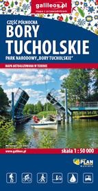 BORY TUCHOLSKIE mapa turystyczna 1:50 000 STUDIO PLAN 2021/2022
