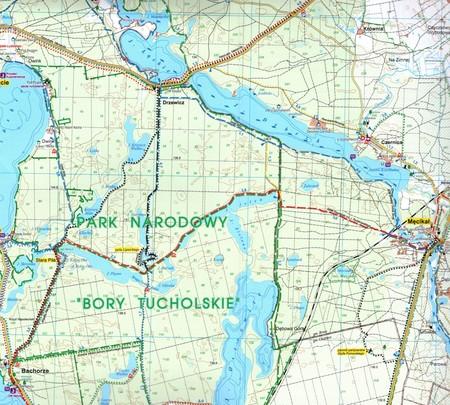 BORY TUCHOLSKIE mapa turystyczna 1:50 000 STUDIO PLAN 2021/2022 (4)