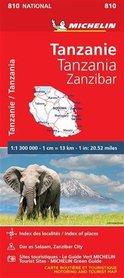TANZANIA ZANZIBAR mapa 1:1 300 000 MICHELIN 2020