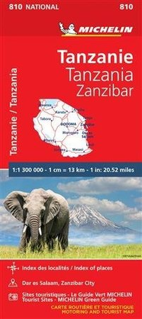 TANZANIA ZANZIBAR mapa 1:1 300 000 MICHELIN 2020 (1)