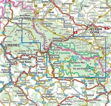 KARKONOSZE GÓRY IZERSKIE mapa laminowana 1:35 000 COMPASS 2021 (2)