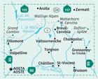 BREUIL CERVINIA ZERMATT wodoodporna mapa turystyczna 1:50 000 KOMPASS (2)