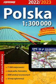 POLSKA atlas samochodowy 1:300 000 EXPRESSMAP 2022/2023