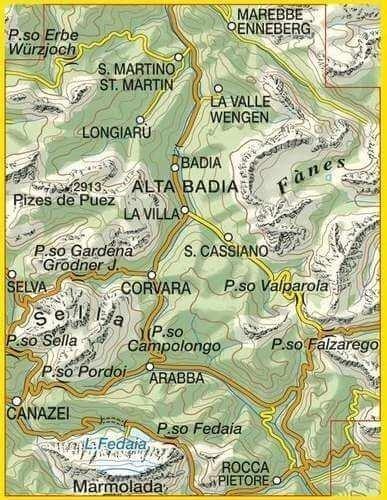 07 ALTA BADIA - ARABBA - MARMOLADA mapa turystyczna 1:25 000 TABACCO 2021 (2)