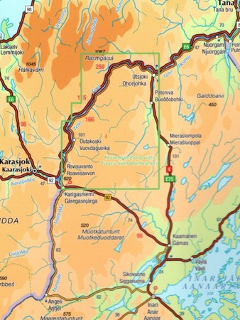 UTSJOKI KEVO PAISTUNTURIT mapa 1:50 000 KARTTAKESKUS (3)