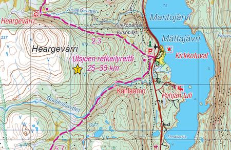 UTSJOKI KEVO PAISTUNTURIT mapa 1:50 000 KARTTAKESKUS (6)