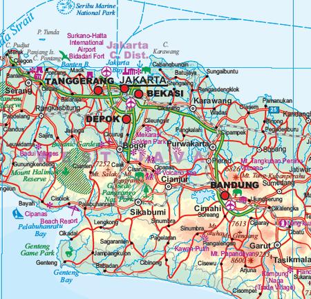 INDONEZJA mapa wodoodporna 1: 2 400 000 ITMB (2)