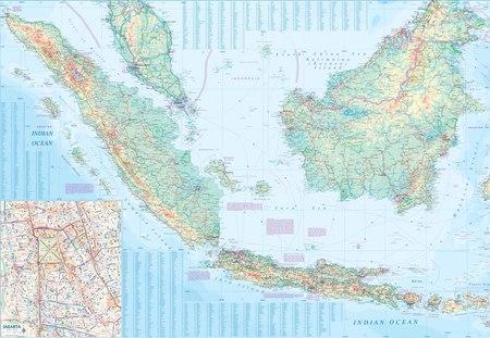 INDONEZJA mapa wodoodporna 1: 2 400 000 ITMB (4)