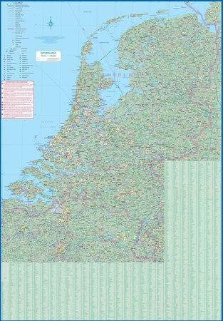 AMSTERDAM 1:8 000 NIDERLANDY 1:400 000 mapa ITMB 2021 (2)