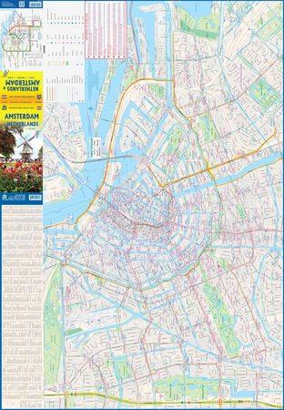 AMSTERDAM 1:8 000 NIDERLANDY 1:400 000 mapa ITMB 2021 (3)