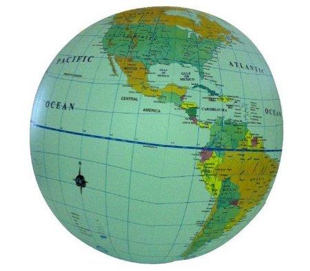 PIŁKA Świat mapa polityczna 40 cm ITMB (1)