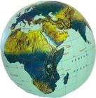 PIŁKA Świat mapa fizyczna 40 cm ITMB (1)
