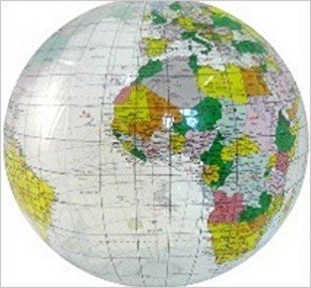 PIŁKA Świat mapa polityczna 40 cm ITMB / przezroczysta (1)