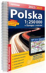 POLSKA atlas 1:250 000 + EUROPA 2022/2023 EXPRESSMAP