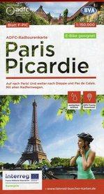 PARYŻ - PIKARDIA mapa rowerowa 1:150 000 ADFC 2021