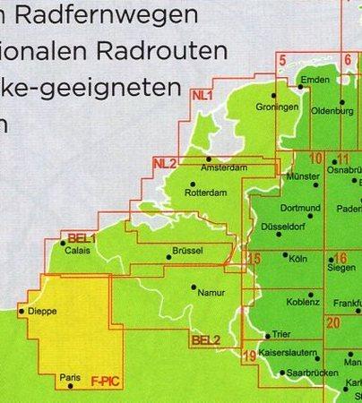 PARYŻ - PIKARDIA mapa rowerowa 1:150 000 ADFC 2021 (3)