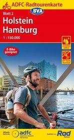 HAMBURG HOLSZTYN mapa turystyczno - rowerowa ADFC 2021