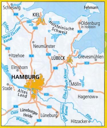 HAMBURG HOLSZTYN mapa turystyczno - rowerowa ADFC 2021 (2)