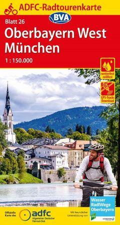 GÓRNA BAWARIA ZACHÓD / MONACHIUM mapa rowerowa ADFC 2021 (1)