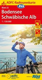 JEZIORO BODEŃSKIE / JURA SZWABSKA mapa rowerowa ADFC 2021