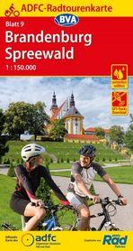BRANDENBURGIA SZPREWALD mapa rowerowa ADFC 2021