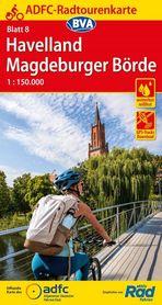 HAVELLAND / MAGDEBURGER BORDE mapa rowerowa ADFC 2021
