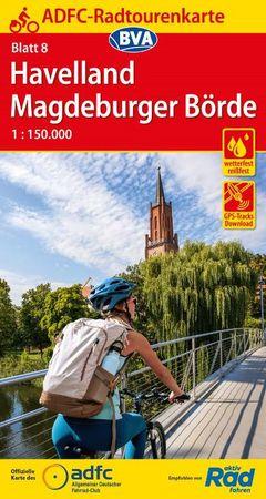 HAVELLAND / MAGDEBURGER BORDE mapa rowerowa ADFC 2021 (1)