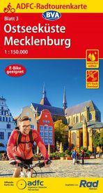 WYBRZEŻE BAŁTYKU / MEKLENBURGIA mapa rowerowa ADFC 2021