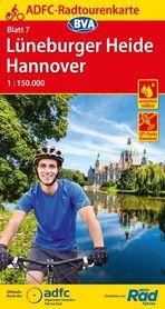 LUNEBURGER HEIDE / HANNOVER mapa rowerowa ADFC 2021