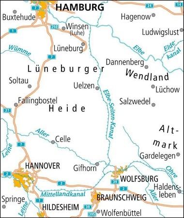 LUNEBURGER HEIDE / HANNOVER mapa rowerowa ADFC 2021 (2)