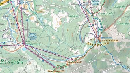 SZCZYRK I OKOLICE mapa laminowana 1:25 000 COMPASS 2022 (2)