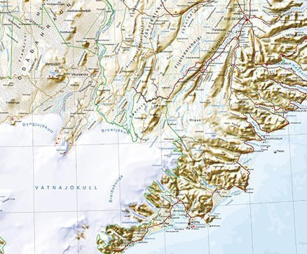 ISLANDIA mapa ścienna 1:350 000 FERDAKORT 2021 (4)
