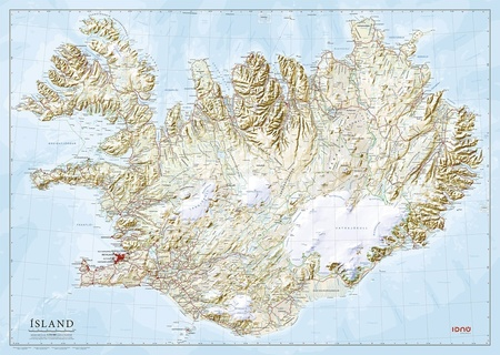 ISLANDIA mapa ścienna 1:350 000 FERDAKORT 2021 (1)