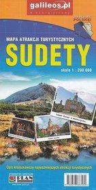 SUDETY mapa atrakcji turystycznych 1:200 000 STUDIO PLAN 2020