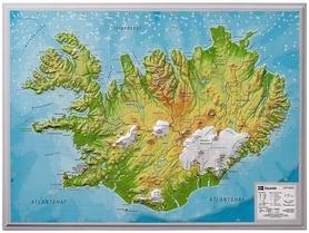 ISLANDIA mapa plastyczna 1:1 500 000 GEORELIEF