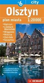 OLSZTYN plan miasta 1:20 000 DEMART 2020