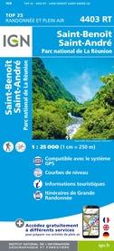 SAINT-BENOIT / SAINT-ANDRE- REUNION mapa turystyczna IGN 2020