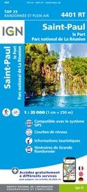 SAINT-PAUL-LE-PORT - REUNION mapa turystyczna IGN 2020