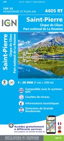 SAINT-PIERRE - REUNION mapa turystyczna IGN 2020