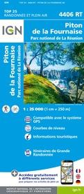 PITON DE LA FOURNAISE - REUNION  mapa turystyczna IGN 2020