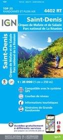 ST-DENIS / CIRQUES DE MAFATE ET DE SALAZIE - REUNION mapa turystyczna IGN 2020