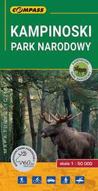 KAMPINOSKI PARK NARODOWY mapa turystyczna 1:50 000 COMPASS 2019