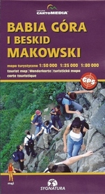 BABIA GÓRA I BESKID MAKOWSKI mapa turystyczna 1:50 000 CARTOMEDIA 2017