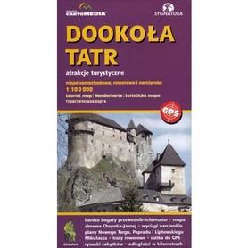 DOOKOŁA TATR atrakcje turystyczne mapa 1:100 000 SYGNATURA